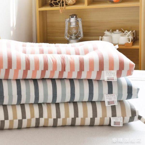 全棉枕芯可水洗日式學生宿舍成人兒童夏季單人簡約柔軟護頸椎枕頭wy耶誕