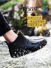 則享男士雨鞋防水鞋防滑短筒加絨保暖雨靴男時尚低幫套鞋廚房膠鞋 快速出貨
