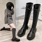 過膝長靴女2020秋冬季新款顯瘦高筒皮靴小個子胖mm粗腿騎士長筒靴 雙十一全館免運