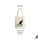 IMPACT KANGOL 英國 袋鼠 帆布 環保 肩背 方包 側背 托特包 手提包 米白 6025301601
