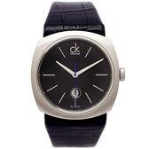 CK  Calvin Klein 黑色優雅時尚款手錶(K9711102)-黑面X黑色/45mm
