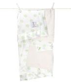 頂級 冬季首選 Little Giraffe 美國 嬰兒被 頂級攜帶毯 - 豪華彩色奶油點點嬰兒毯(灰綠色款)  LXSNDBKTCE