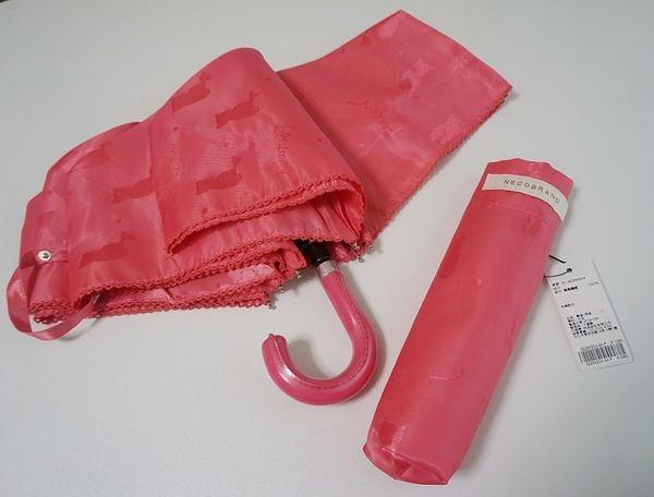 素晴館 日本ef-de品牌傘 可愛小貓晴雨兩用摺疊傘(粉紅色)