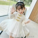 快速出貨 女童洋裝女童裝洋裝新款周歲公主裙2020季洋氣寶寶洋裝民族風裙子