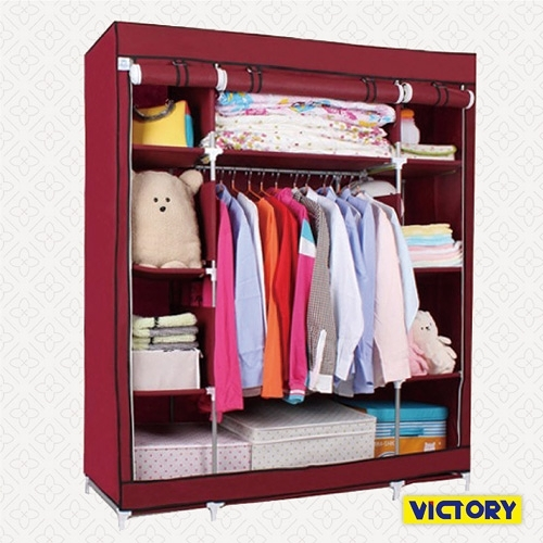 【VICTORY】140x50x175cm彩豔防塵衣櫥(TB-1608)#1327014 不織布衣櫥 衣櫃 簡易收納櫃