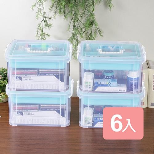 《真心良品》布蕾蒂手提雙層整理箱(9L)6入組