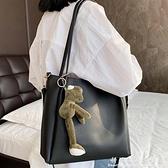 大氣簡約包包女側背包大容量2020新款潮學生托特包網紅上班單肩包中秋特惠