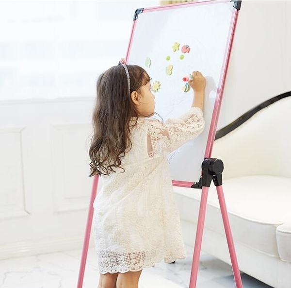 兒童畫畫板可擦家用小黑板支架式學寫字白板磁性水筆無塵寶寶塗鴉 aj9877【花貓女王】