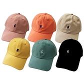 小字母情侶款鴨舌帽/棒球帽(1入) 款式可選【小三美日】