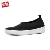 新降7折【FitFlop】COMFFKNIT BALLERINAS 易穿脫舒適休閒娃鞋-女(黑色)