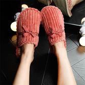 買一送一冬季情侶棉拖鞋女士家居厚底