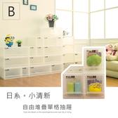 【dayneeds】日系小清新可自由堆疊收納抽屜櫃系列B(三S)
