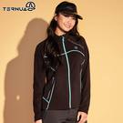【西班牙TERNUA】女Polartec立領中層外套1643328 AF / 城市綠洲(中層保暖、超細刷毛、輕量透氣)
