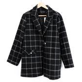 週年慶同步【MASTINA】格紋外套-黑