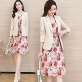 大碼 洋裝 名媛小香風套裝洋氣小西裝職業裝時尚韓版氣質顯瘦女潮春裝兩件