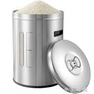 304不銹鋼米桶米缸家用防蟲防潮面桶50-20斤裝米桶密封儲米箱25KG 小艾時尚.NMS