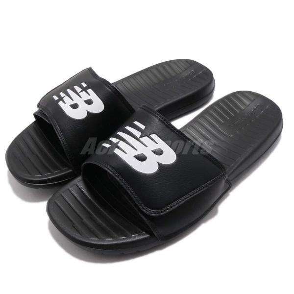 New Balance 拖鞋 NB 230 黑 白 基本款 黑白 夏日百搭款 魔鬼氈 男鞋 女鞋【ACS】 SD230BKD