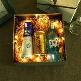 雙十二狂歡購  精美發光禮品盒正方形大號生日禮物包裝盒送禮盒燈串禮品包裝盒子 小巨蛋之家
