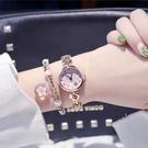 限時搶購!(送手鏈) 電子錶 女中學生正韓簡約潮流 鏈式小清新百搭 石英錶