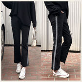 ✦Styleon✦正韓。缺口抽鬚褲腳勾邊直筒高腰長褲。韓國連線。韓國空運。0320。