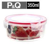 樂扣樂扣 P&Q圓型保鮮盒-紅(350ml)【愛買】