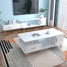 北歐圓角茶幾簡約現代茶幾桌客廳家用小戶型茶桌輕奢電視柜組合
