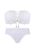 【設計師原創】無肩帶內衣女性感聚攏小胸文胸 白色無鋼圈胸罩