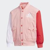 ADIDAS 粉紅 拼接 兩面穿外套 日系 童裝 女 (布魯克林) FU3577
