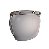 三扣泡泡鏡片,三釦式安全帽通用~銅製黃金色釦鐶PP風鏡
