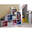 空櫃 收納【收納屋】 粉色單格兩層組合收納櫃-三色可選&DIY組合傢俱