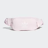 ADIDAS 腰包 雙層 粉紅 白LOGO 基本款 (布魯克林) FL9658