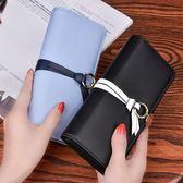 新款女士錢包長款手包搭扣拉鏈手拿包潮 LQ3388『夢幻家居』