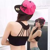 小背心【TTU117】PINK LADY鏤空條紋小可愛(有胸墊)#2025  小可愛 打底內衣
