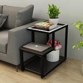 簡約客廳小茶幾邊角桌迷你角櫃沙發櫃邊櫃玻璃小邊幾角幾臥室邊桌 英雄聯盟IGO