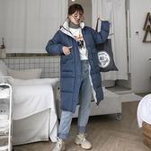 外套 棉襖 羽絨 2020年秋冬季新款羽絨棉衣服韓版中長款過膝寬松大碼外套面包服女