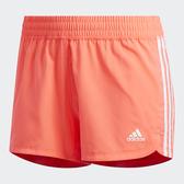 ADIDAS 3-STRIPES WOVEN 女裝 短褲 慢跑 訓練 吸濕 排汗 透氣 三條線 橘【運動世界】GC7826