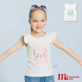 JJLKIDS 女童  甜美可人蕾絲花邊袖上衣(2色)
