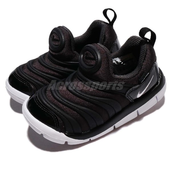 Nike 慢跑鞋 Dynamo Free TD 黑 白 嬰兒鞋 幼兒鞋 小童鞋 毛毛蟲鞋【ACS】 343938-013