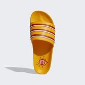 Adidas Adilette X Ee [H02574] 男鞋 運動休閒 拖鞋 涼鞋 夏天 海灘 游泳 愛迪達 黃 紅