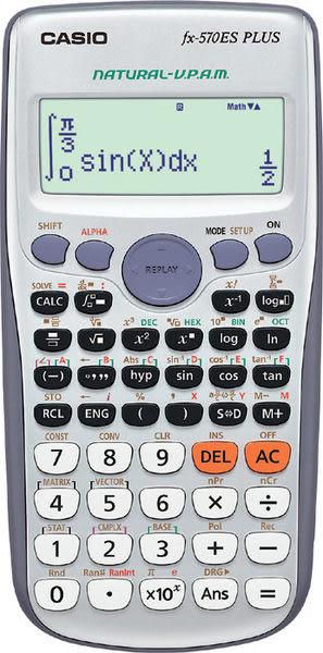 CASIO卡西歐工程型計算機直覺顯示機種 FX-570ES PLUS