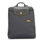 Longchamp 1699 LE PLIAGE 奔馬刺繡折疊尼龍後背包(鐵灰色)480210-300