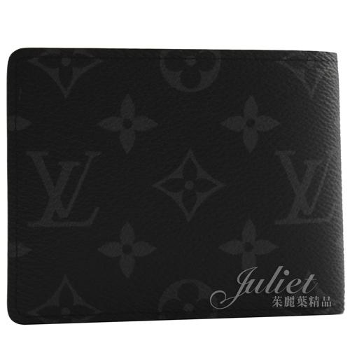 Louis Vuitton LV M62294 Slender 經典花紋雙折短夾.黑  全新 預購【茱麗葉精品】