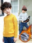 冬季男童裝毛衣 男童加絨加厚冬季男孩兒童毛衣半高領保暖中領針織 俏女孩