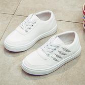 兒童鞋子女秋季新款女童運動鞋男童鞋中大童板鞋潮小白鞋童鞋