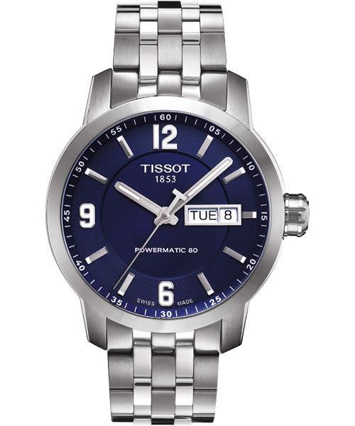 TISSOT 天梭 PRC200 Powermatic 80 時尚機械手錶-藍/39mm T0554301104700