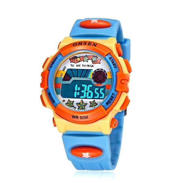兒童手錶男孩夜光鬧鐘數字式 小學生卡通動漫生活防水女孩電子錶 童趣屋