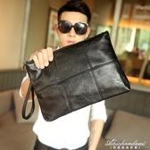 潮流街頭韓版男格子手拿包 文件包 時尚手包 商務休閒信封包新款 黛尼時尚精品