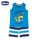 chicco- 休閒-恐龍水手背心套裝
