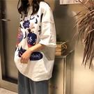 【Charm Beauty】短袖t恤女 2021年 夏季 新款 寬鬆 韓版 學生 chic港味 上衣 ins潮