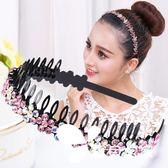 發箍韓國版頭飾發夾子女頂夾簡約寬邊帶齒頭箍發卡成人超仙壓發窟